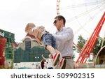 small baby boy is having fun... | Shutterstock . vector #509902315