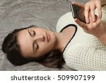 portrait of a girl with a...   Shutterstock . vector #509907199