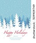 vector background  happy... | Shutterstock .eps vector #509909749