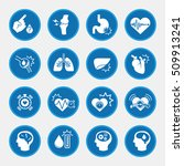obesity related diseases icons... | Shutterstock .eps vector #509913241