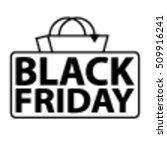 black friday sale sign | Shutterstock .eps vector #509916241