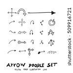 vector hand drawn arrows set | Shutterstock .eps vector #509916721