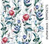 wildflower eustoma flower... | Shutterstock . vector #509926171