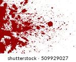 vector splatter background red...   Shutterstock .eps vector #509929027