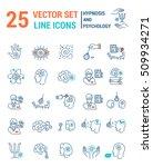 set vector line icons in flat... | Shutterstock .eps vector #509934271