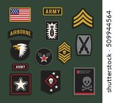set of army badge typography  t ... | Shutterstock .eps vector #509944564