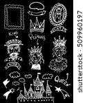 hand drawn fairy tale kingdom... | Shutterstock .eps vector #509960197