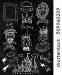 hand drawn fairy tale kingdom...   Shutterstock . vector #509960209