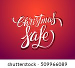 christmas sale.  vector... | Shutterstock .eps vector #509966089