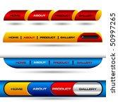 editable website vector buttons | Shutterstock .eps vector #50997265