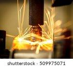 industrial welding automotive... | Shutterstock . vector #509975071