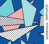 seamless geometric pattern in... | Shutterstock .eps vector #509976919