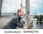 portrait of young man standing...   Shutterstock . vector #509980795