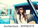 summer holidays  road trip ... | Shutterstock . vector #509982979