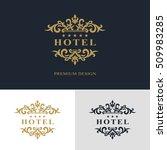 monogram design elements ... | Shutterstock .eps vector #509983285