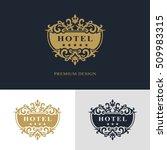 monogram design elements ... | Shutterstock .eps vector #509983315