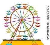 colorful ferris wheel isolated... | Shutterstock .eps vector #50998477
