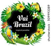 brazil  vector illustration of... | Shutterstock .eps vector #509993389