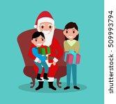 vector illustration of funny... | Shutterstock .eps vector #509993794
