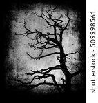 scary tree. beautiful dark... | Shutterstock . vector #509998561