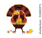 cartoon thanksgiving turkey... | Shutterstock .eps vector #510002971