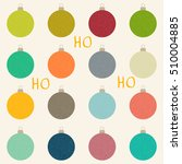 Set Of Modern Christmas Bauble...