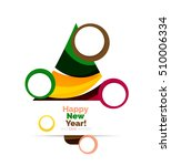 colorful christmas abstract...   Shutterstock .eps vector #510006334