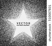 monochrome stippled star shaped ... | Shutterstock .eps vector #510007831