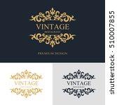 monogram design elements ... | Shutterstock .eps vector #510007855