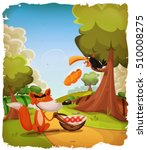 the crow and the fox story...   Shutterstock .eps vector #510008275