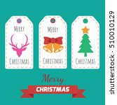 merry christmas label card... | Shutterstock .eps vector #510010129