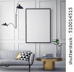 mock up poster with vintage... | Shutterstock . vector #510014515
