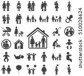 family graphic design   vector... | Shutterstock .eps vector #510028624