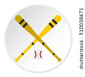 baseball bat and ball icon.... | Shutterstock . vector #510038671