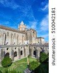 Small photo of Evora, Portugal - November 29, 2016. Lantern tower and transept over the cloister of Cathedral of Evora, Basilica Se Catedral de Nossa Senhora da Assuncao. Evora, Portugal.