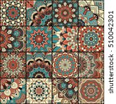boho tile set and seamless... | Shutterstock .eps vector #510042301
