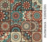 boho tile set and seamless... | Shutterstock .eps vector #510042301
