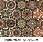 colorful tiles pattern.... | Shutterstock .eps vector #510042325