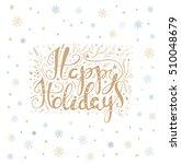 merry christmas lettering over... | Shutterstock .eps vector #510048679