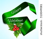 christmas sale banner with... | Shutterstock .eps vector #510049081