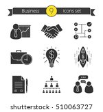 business concepts icons set.... | Shutterstock .eps vector #510063727
