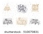merry christmas lettering over...   Shutterstock .eps vector #510070831