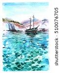 Watercolor Hand Drawn Sea...