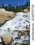 Small photo of Waterfall at Alluvial fan in Rocky Mountain National Park, Colorado, USA