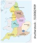outline map of the nine regions ... | Shutterstock .eps vector #510082909