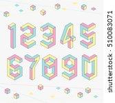 isometric numbers. | Shutterstock .eps vector #510083071