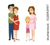 young pregnant woman  pregnancy ... | Shutterstock .eps vector #510093997