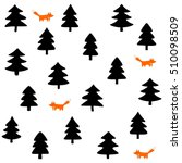 foxes wild life forest with... | Shutterstock .eps vector #510098509