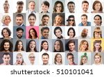 collage. happy people of... | Shutterstock . vector #510101041