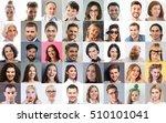 collage. happy people of... | Shutterstock . vector #510101041